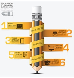 Education And Learning Infographic With Spiral Tag vector image vector image