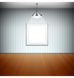 Empty Picture Frame Illuminated By Spotlight vector image