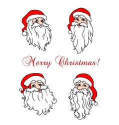 Four cheerful Santa Clouses vector image vector image