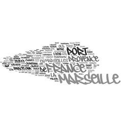 marseille word cloud concept vector image vector image