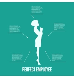 Perfect employee business infographics template vector image