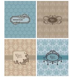 vintage invitation cards vector image