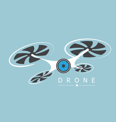 drone with camera logo vector image