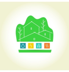 Eco-friendly house logo vector image