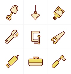 Icons Style Basic - Tools and Construction icons vector image