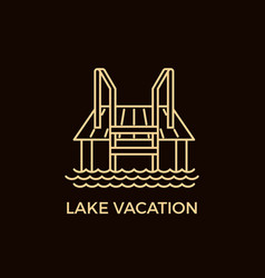 Modern line style sauna logotype template vector