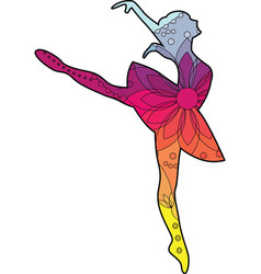 ballet dancer with transition colors vector image