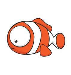 big eyed clown fish vector image vector image