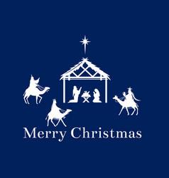 christmas scene of jesus in the manger vector image