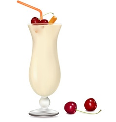 cocktail with cream vector image