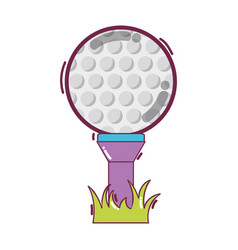 Golf ball to play game vector