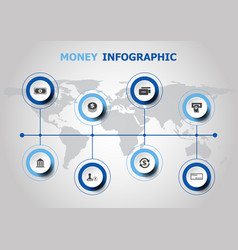 infographic design with money icons vector image