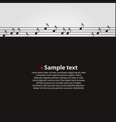 musical dark background vector image