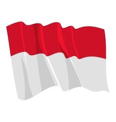 political waving flag of monaco vector image vector image