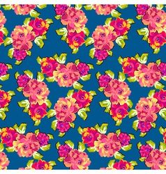 Summer Rose Pattern vector image