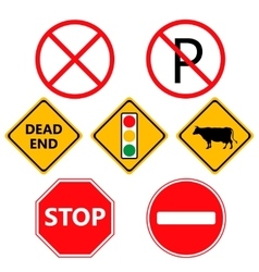 Traffic Laws labels for your product or design vector image vector image