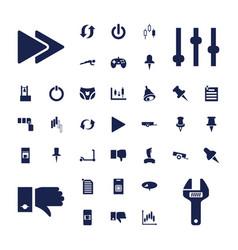 37 push icons vector