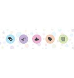5 copy icons vector