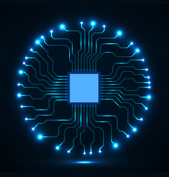 Abstract cpu microprocessor microchip circuit vector