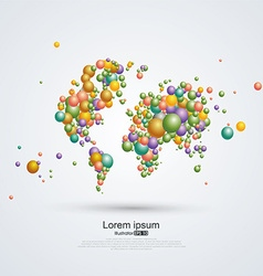 Abstract planet Composition of balloons vector image
