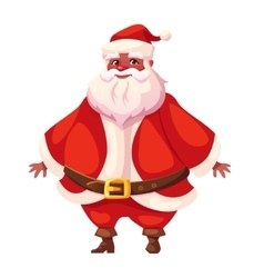 African american flat santa standing and smiling vector image