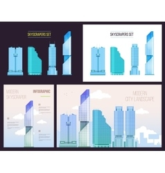 Big City infographics set of modern office vector