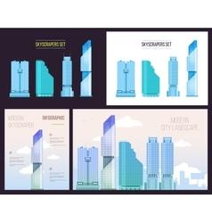 Big City infographics set of modern office vector image