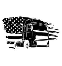 black truck silhouette vector image