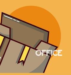 Box open office element vector