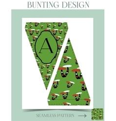 Bunting design - mushroom from wonderland vector