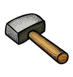 Cartoon image of hammer vector