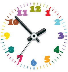 Colorful clock vector