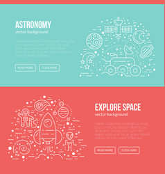 cosmos banner vector image
