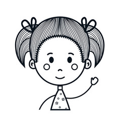 cute little girl drawing character vector image