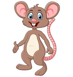 Cute mouse cartoon presenting vector