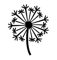 Dandelion icon simple style vector