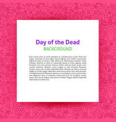 day dead paper template vector image