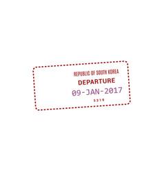 departure visa to republic korea vector image