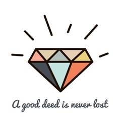 Diamonds hipster vector