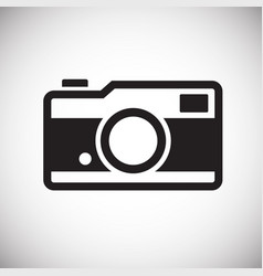 Digital camera icon on white background for vector