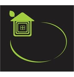 eco home symbol icon vector image