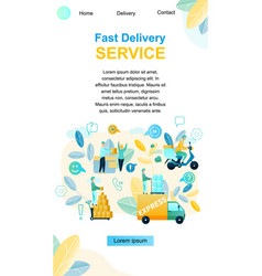 fast delivery service purchase vector image