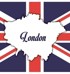 Flag london england design vector