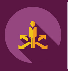 Flat icon people arrow business theme vector