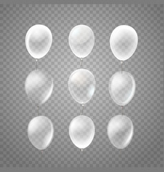 Flying air balloons isolated on tranparent vector
