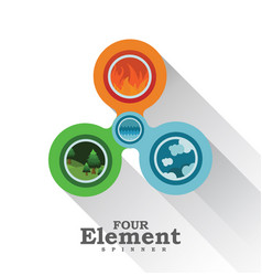four element spinner vector image