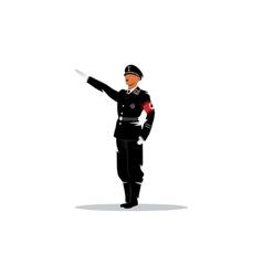 German officer vector