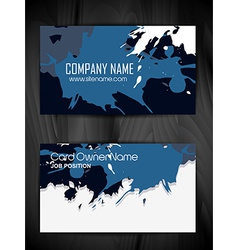grunge style business card design vector image