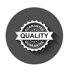 guarantee grunge rubber stamp with long shadow vector image