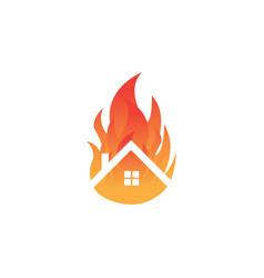 home fire logo template design vector image